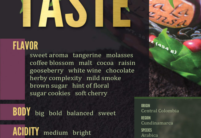 Aroma of the Andes - Taste or Flavor Profile